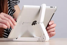 Folding mobile stand for tablet pc&mini cheap adjustable foldable tablet holder &360 degree rotation tablet hoder