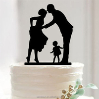 Warm family acrylic cake toppers for wedding decoration