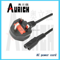 BS certification power cord 250v 10a generator plug Ac power cable with inline RCD device mains lead in-line PRCD Europe type