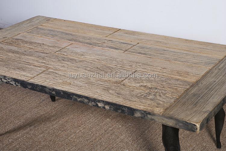 antiken recycelt ulmenholz metall couchtischKaffeetisch
