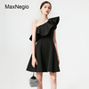 Maxnegio Spring European Style Black Slimming Evening Dresses For Lady