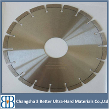 400mm diamond saw blade cutting concrete with drop segment