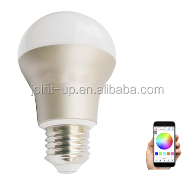100-264V,7.5W,G60,WIFI Connected RGBW LED Bulb compatible with IOS and Android devices, RGBW and CCT Dimmable Wifi RGBW LED Lamp