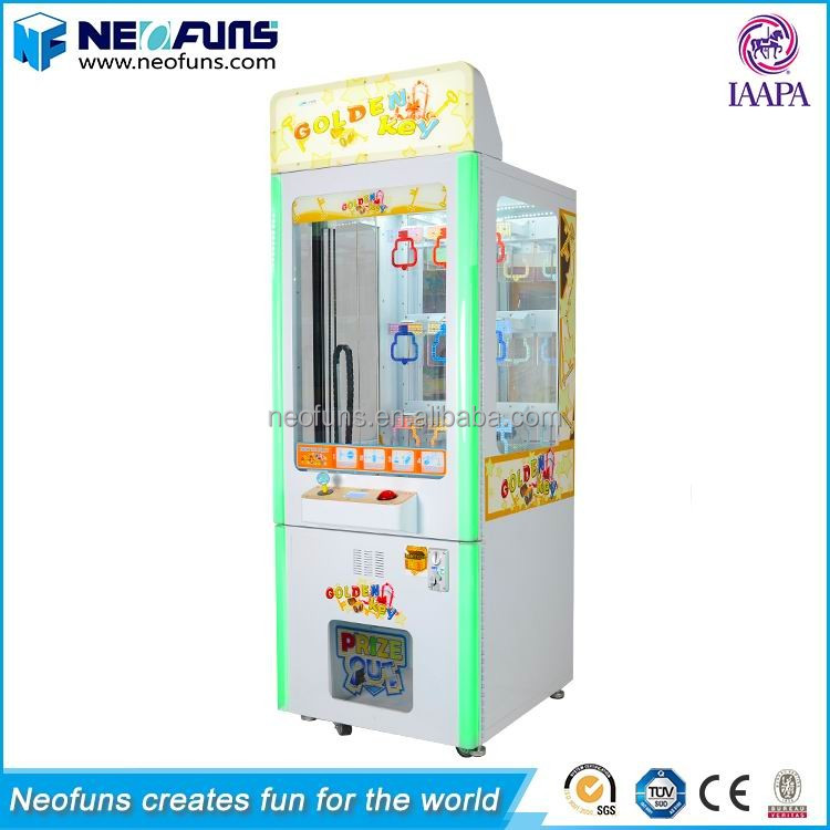 Customized Prize Vending Mini Key Master Coin Game Machine/Golden Key Master Arcade Game Online