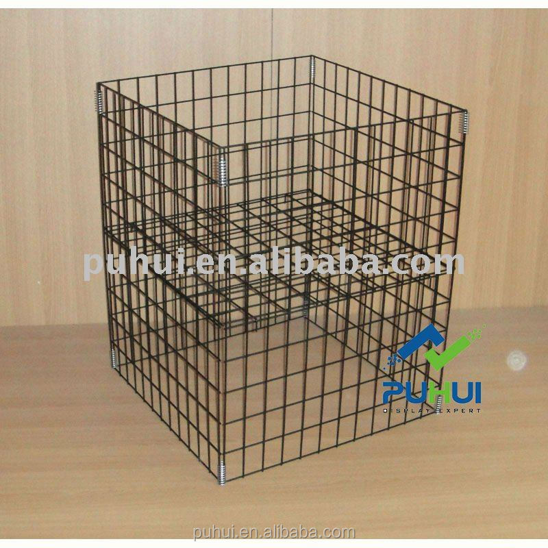 universal convenient metal wire foldable display cube with competitive price