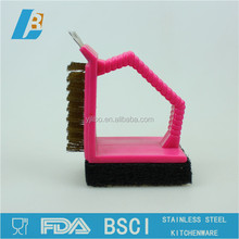 Good quality plastic colour handle bbq grill cleaning brush KB-001