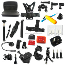 Hot Sell Go Pro Accessories Set,XiaoMi Yi Sport Action Camera Accessories Set.Chest Belt,Monopod,Wrist strap,Headband