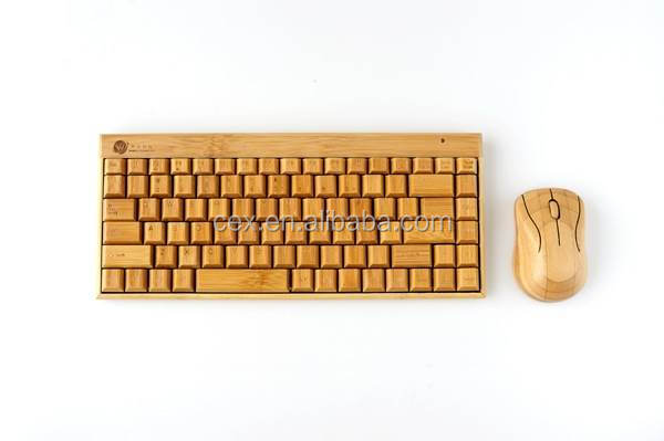 Artis Handmade Bamboo Wooden PC Wireless Bluetooth Keyboard and Mouse