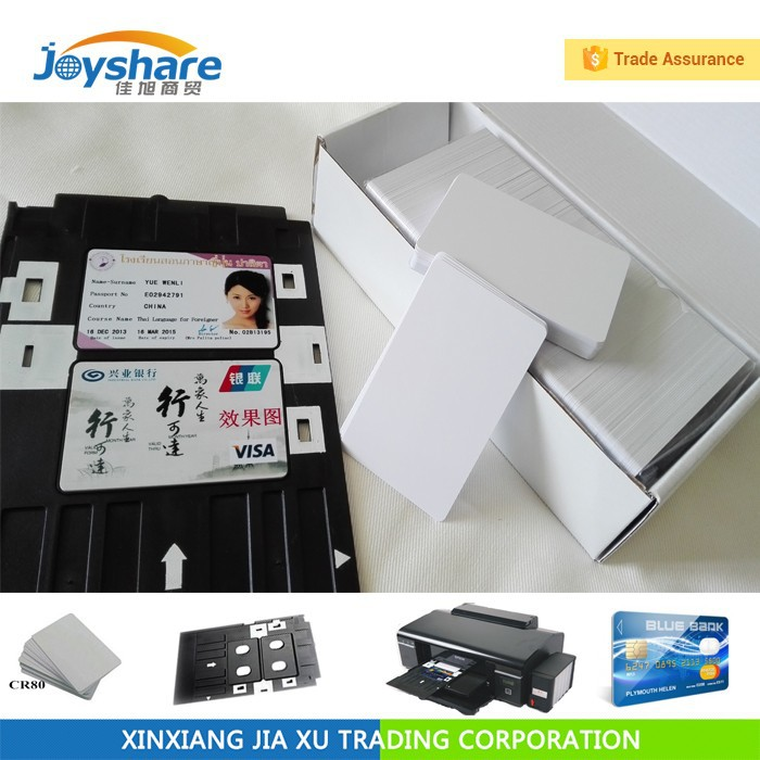 inkjet printing pvc card for Canon or Epson printer t50 l800
