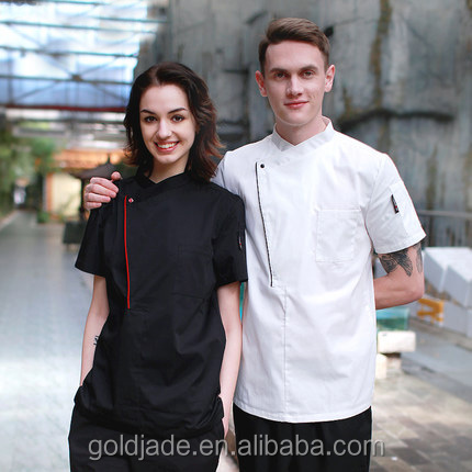 custom short sleeve chef jacket chef coat for hotel/ kitchen/restaurant chef uniform