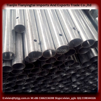 galvanized round farm fence metal posts