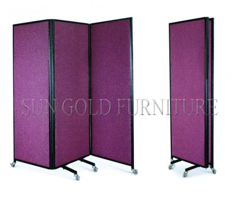 Commercial Removable Folding Office Decorative Partition Wall with Wheels(SZ-WS508)