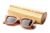cheap stock engrave logo bamboo case for sunglasses