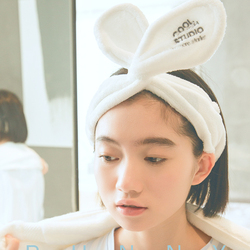 Soft Velvet Plush Rabbit Bunny Ear Women Makeup Headband
