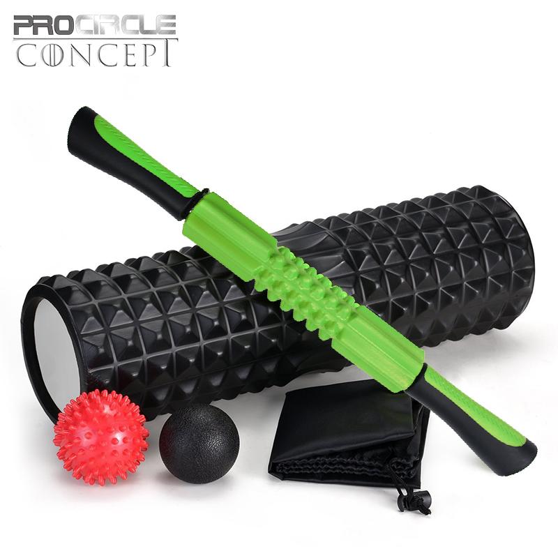 Rolo de espuma, Esfera da massagem E Varas Combinação para Conjunto De Fitness