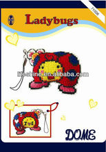 christmas ornament kit with ladybugs design for key chain