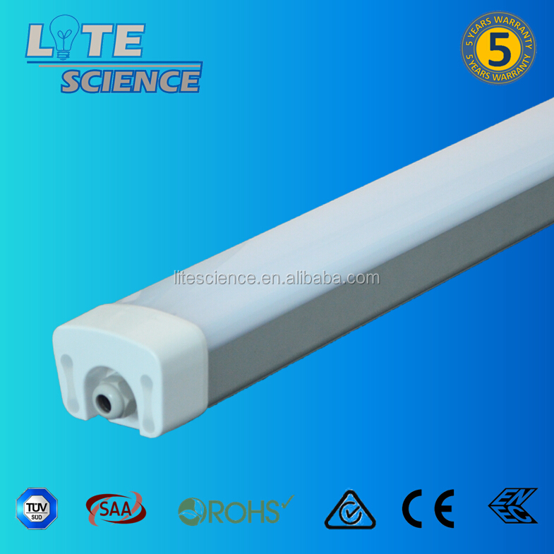 IP65 1000mm 80W 100W LED Batten Luminaire waterproof LED Tube