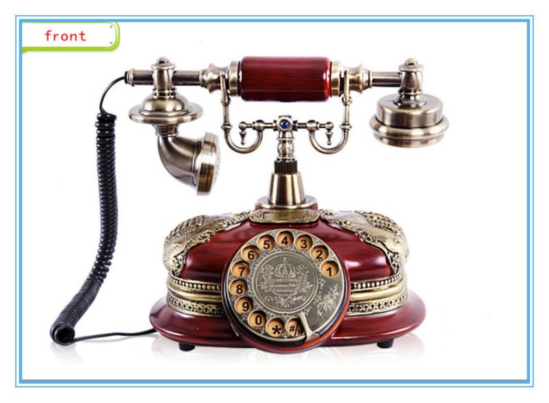 classic antique telephone with caller id function