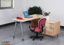 modern steel wooden office desk G2254 with filling cabinet
