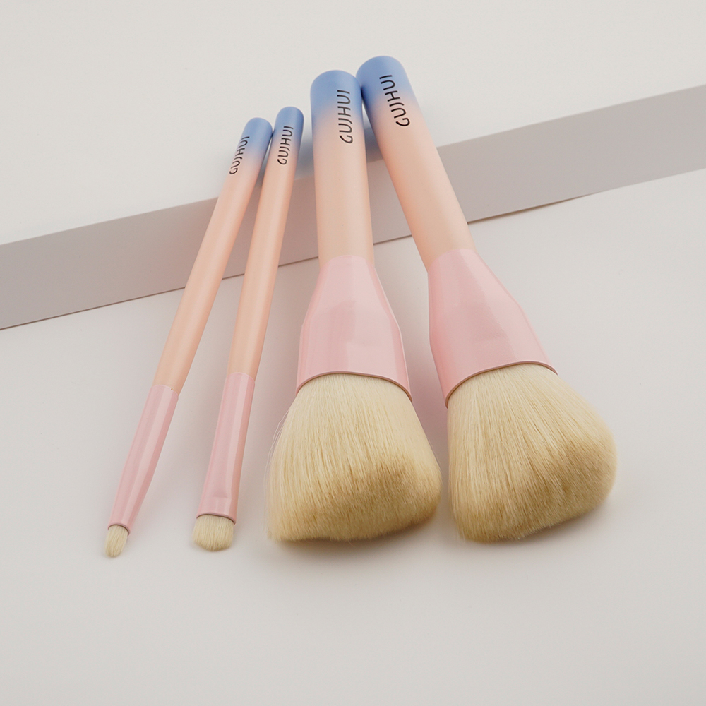 Blush Concealer Contour Brush Makeup Set, 4 pcs