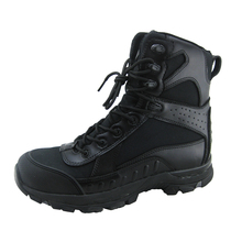Good quality leather and fabric eva rubber sole military boots shoes