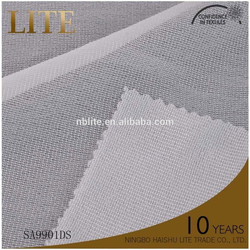 Factory tricot woven warp knitted interlining fusible interlining for shirt