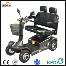 two seat electric mobility scooter with four wheel for old man outdoor activity