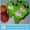 DIY hot selling bpa free silicone popsicle holder with sticker ice lolly mould