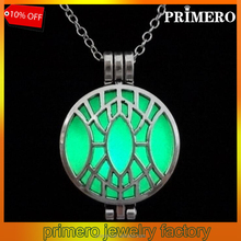 PRIMERO Retro hollow carved Devil's eyes luminous demon design pendant Personality can open the sword necklace couple