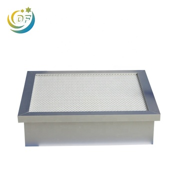 Electricity Turbines Industry Fiberglass Media Pleated Panel H14 hepa Air Filters with Aluminium Frame