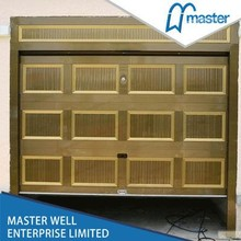 Remote control commercial double steel doors