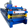 canghzhou tile design double deck glazed tile/ aluminum profile roll forming machine equipment