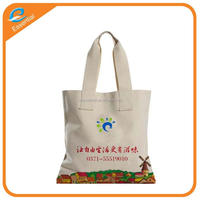 Promotional 2016 organic cotton canvas tote bag