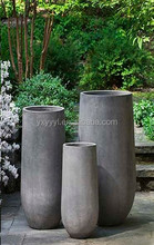 Tall Round Fiberclay Stand Planter