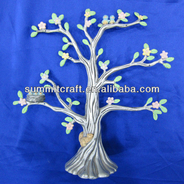 Custom resin tree jewelry display stands