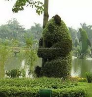 LSWS15122409 guangzhou factory custom artificial boxwood buxus topiary faux guitar sculpture for garden decor