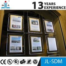 acrylic material Real estate sign frame led window display
