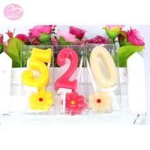 China wholesale fast delivery fancy number candles