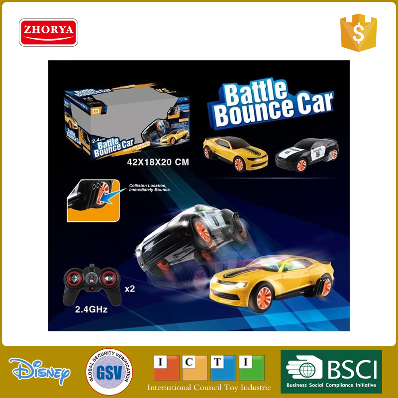 HQ 2in1 3D battle bounce car The Fast and the Furious 2.4Ghz 4ch R/C Ford Mustang Muscle GT car police car toyswith sound