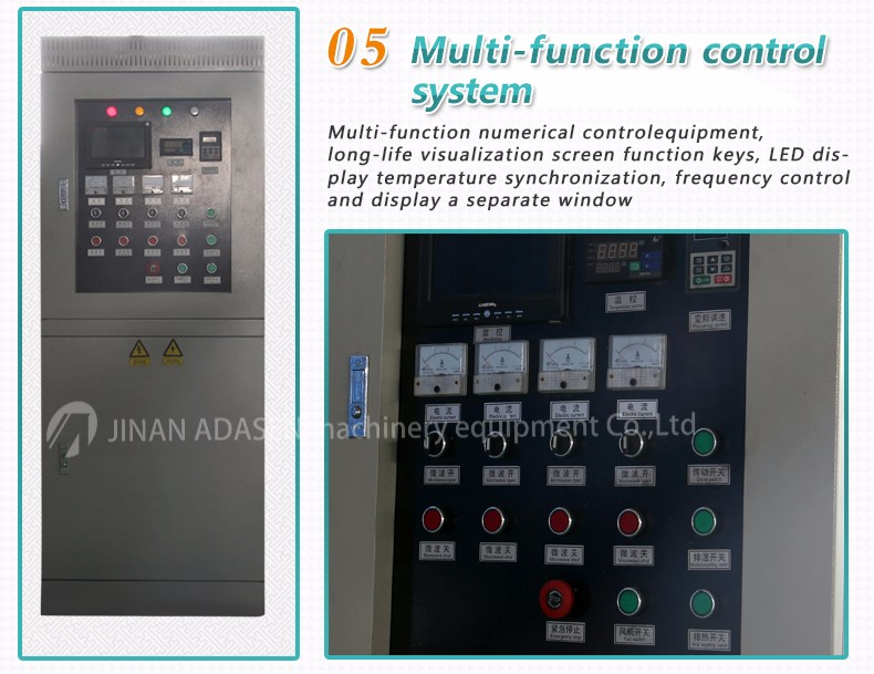 Tunnel type microwave shrimp dryer and roaster equipment