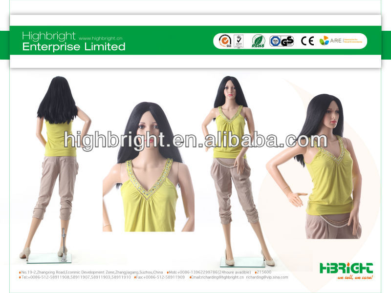 plastic beauty mannequin best quality best price