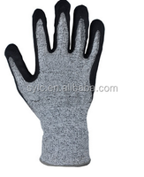 Industrial Nitrile Coated Cut Resistant Level 5 Safety Glove