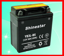 2016 World Best Selling 12V 3Ah Sealed Maintenance free motorcycle battery YB3L-BS With Competitive price