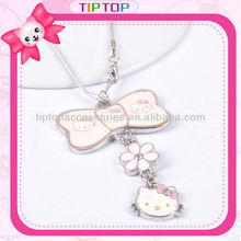 Bow pendant hello kitty necklace