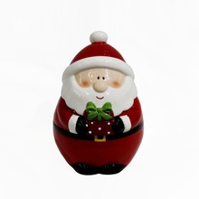 Vintage Ceramic Santa Cookie Jar Canister Santa Clause Christmas Decor