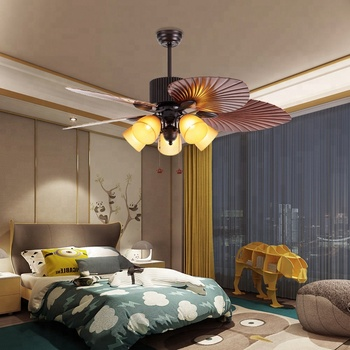 52 inch ORB finished ABS blades Vietnam ceiling fan lamp with halogen light bulbs pull chain control