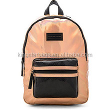 Custom gift manufacturer travelling canvas leather school backpack