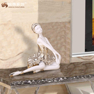 House resin dancing ballerina figurine for clothing shoes shop coffee bar window display