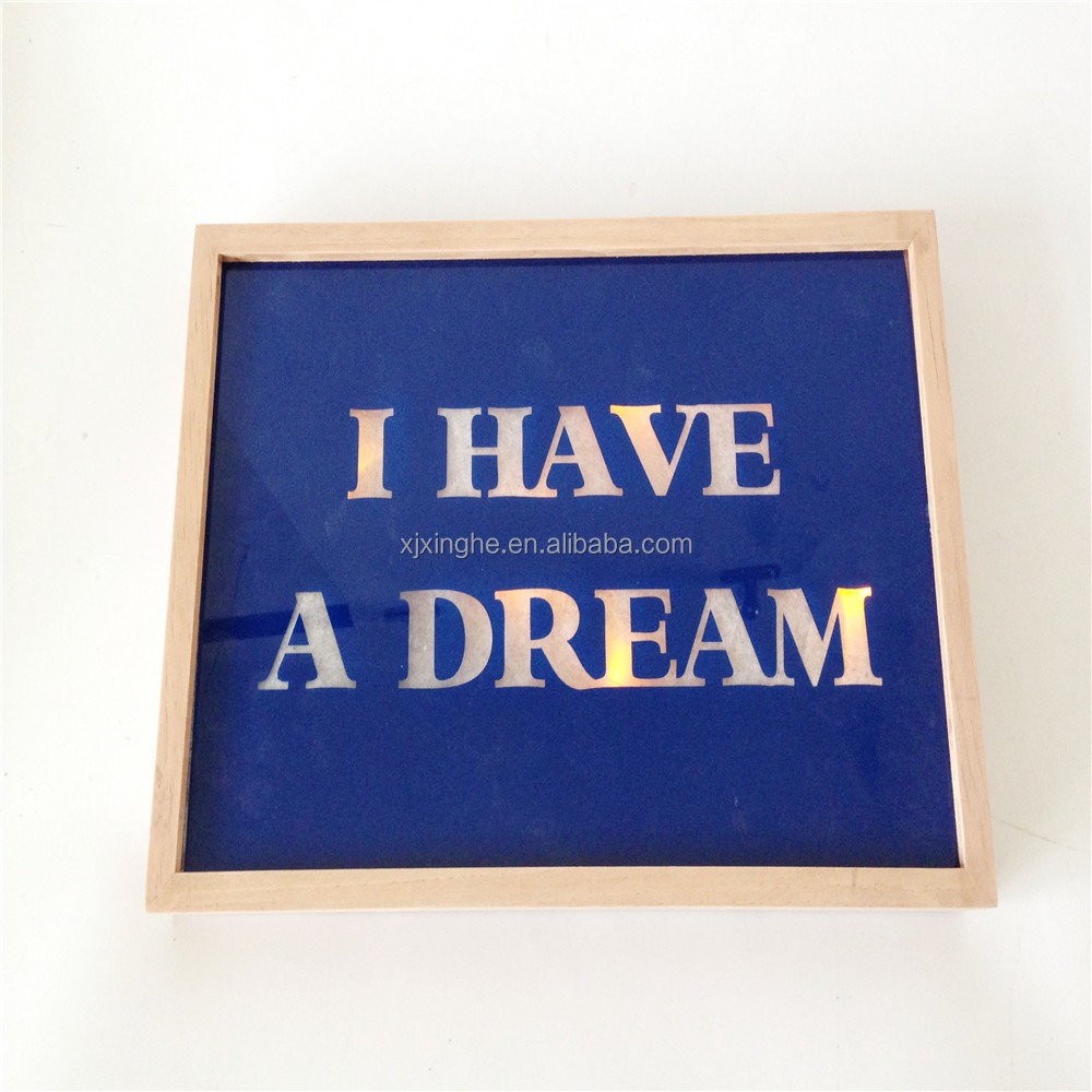 """I have a dream"" light up item wall decor home decor hot sale Led item"