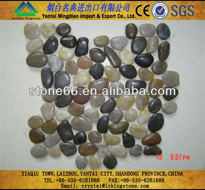 Excellent yellow stone wholesale decorative rocks pebbles